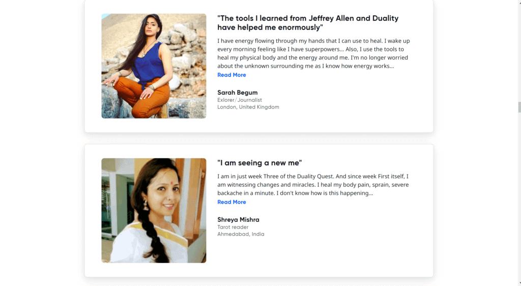Jeffrey Allen Duality course