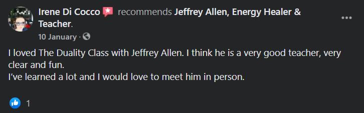 Jeffrey Allen Facebook Feedback