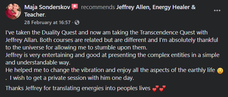 Jeffrey Allen Facebook Reviews