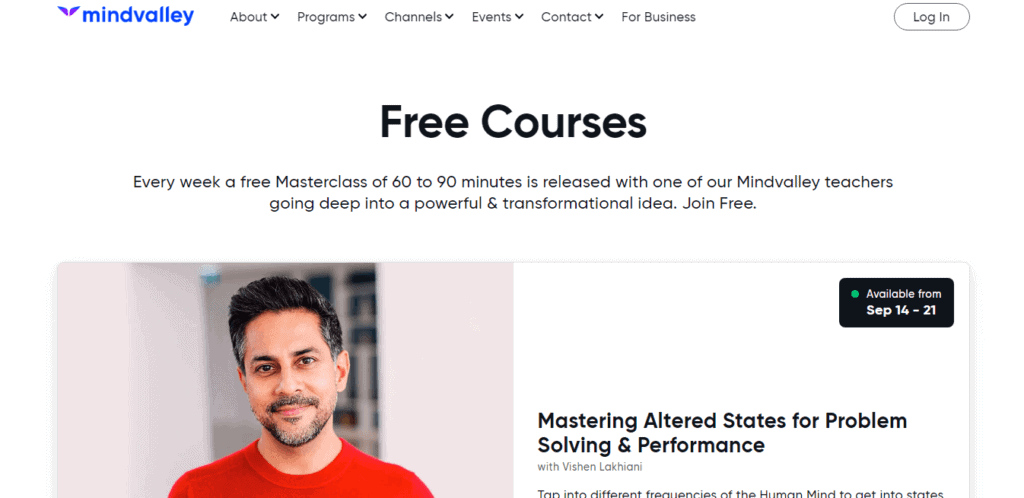 Mindvalley-Free Courses
