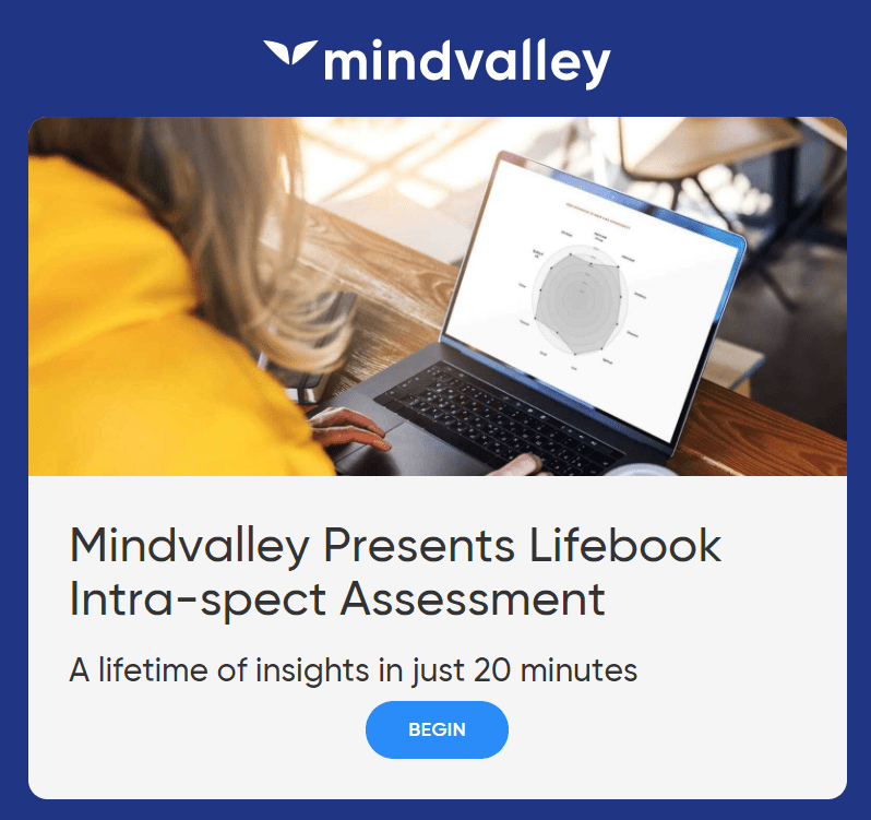 Mindvalley Lifebook Intra-spect Assessment