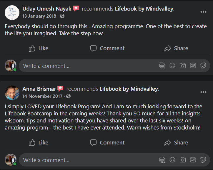 Mindvalley Lifebook User Review 3