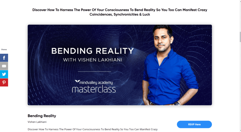 Mindvalley bending reality courses