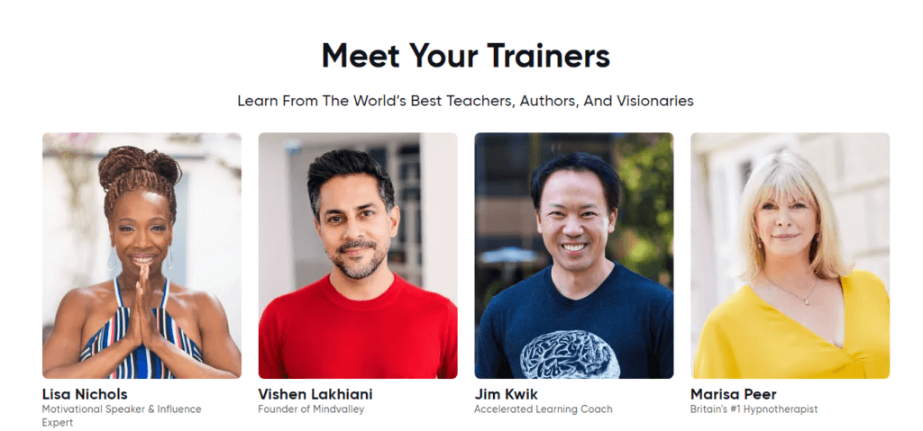 Mindvalley Trainers