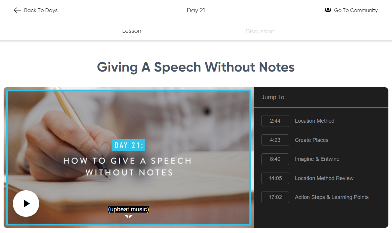 Superbrain Day 21- Giving A Speech WIthout notes