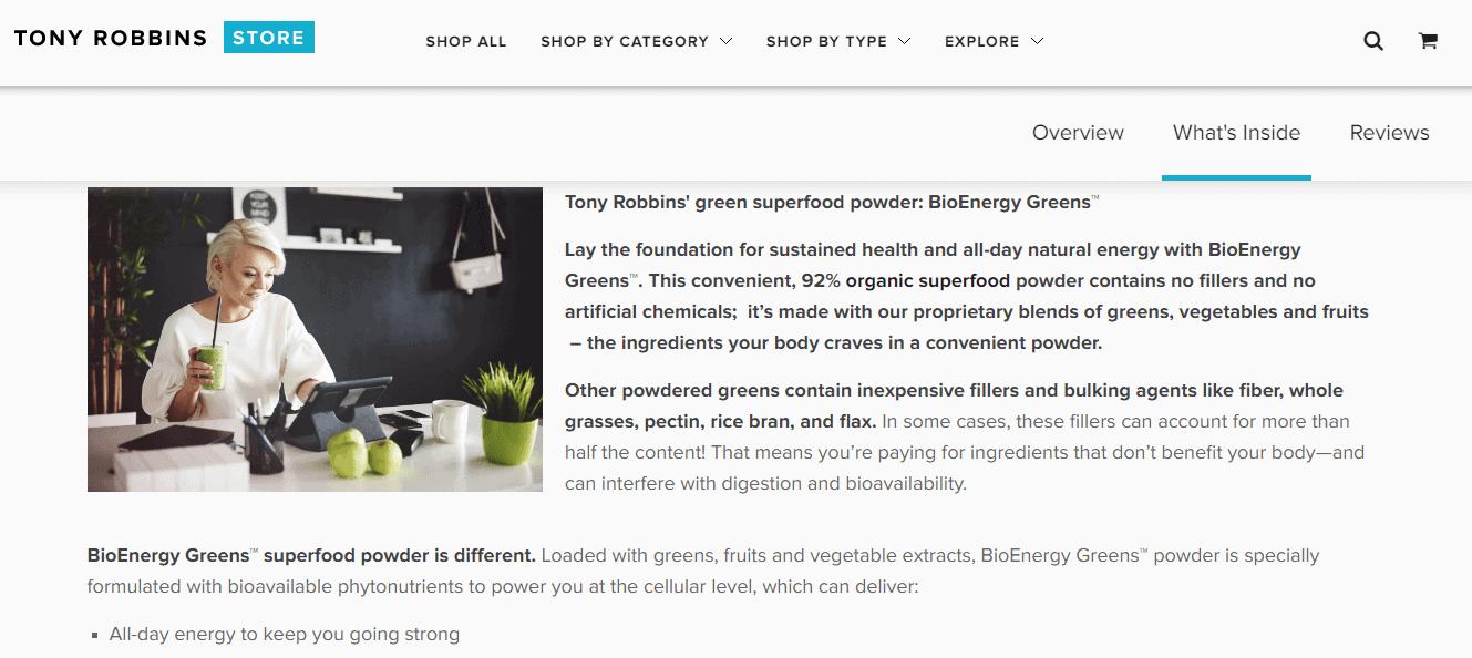 Superfood Powder - Tony Robbins Greens Drink