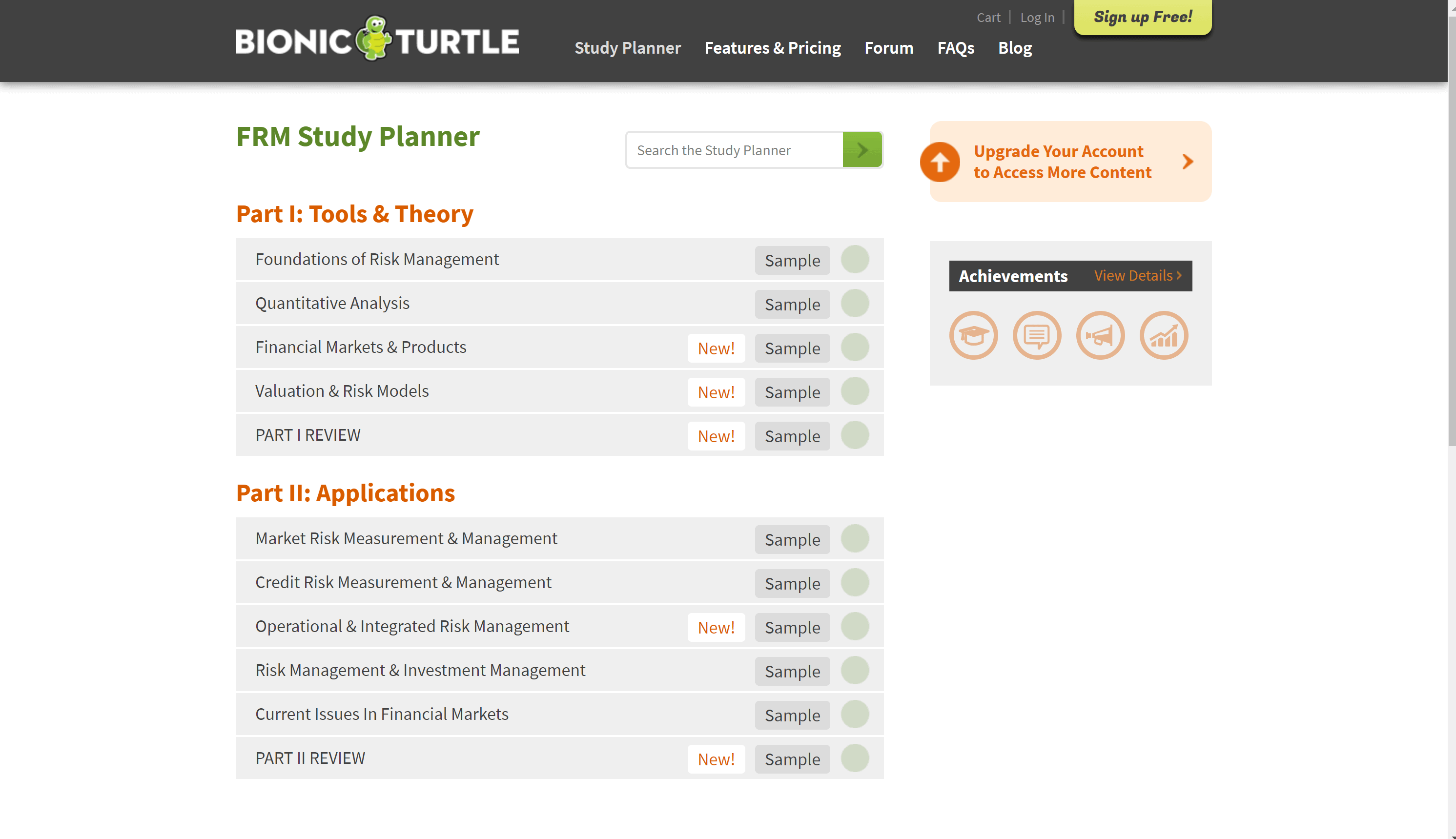 Bionic-turtle-courses
