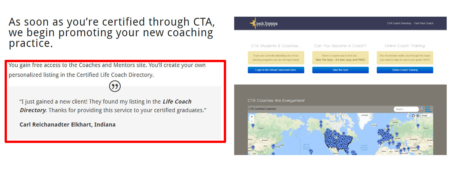 Coach Training Alliance Students Review