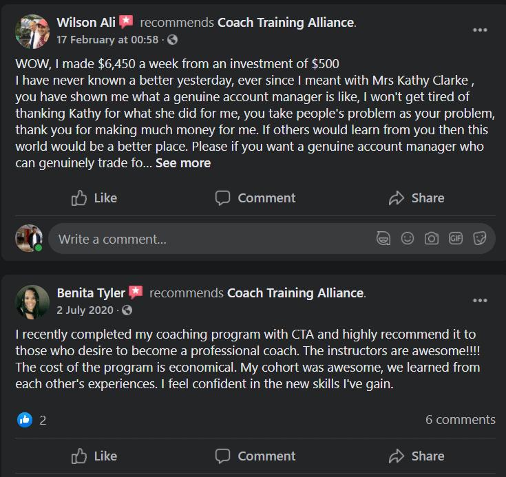 Coach alliance testimonial