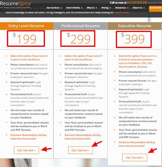 ResumeSpice Pricing