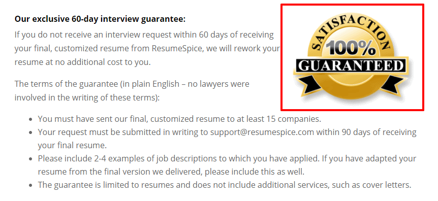 ResumeSpice Review - Interview Guarantee