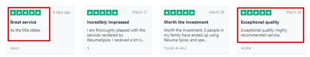 ResumeSpice User Reviews
