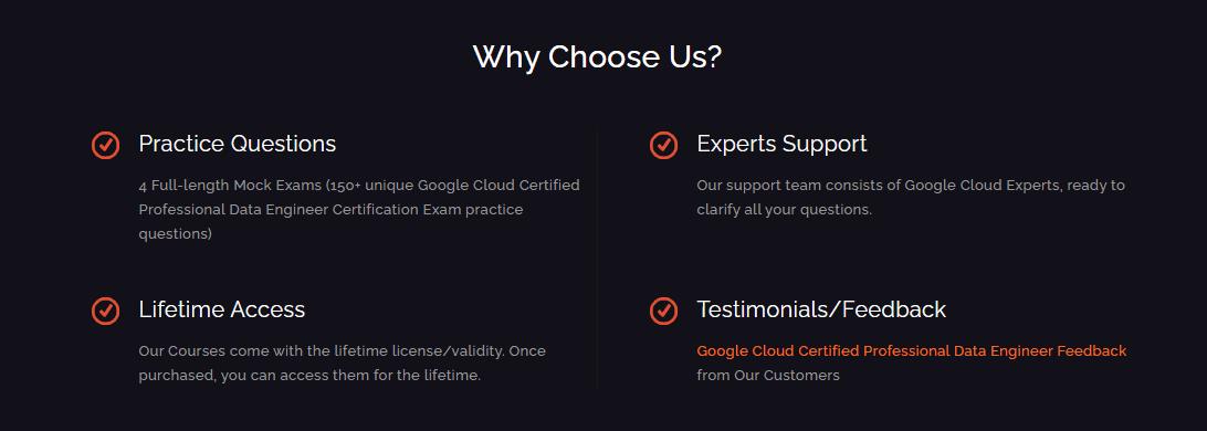 Whizlabs Google Cloud Professional Data Engineer Practice Tests - Benefits