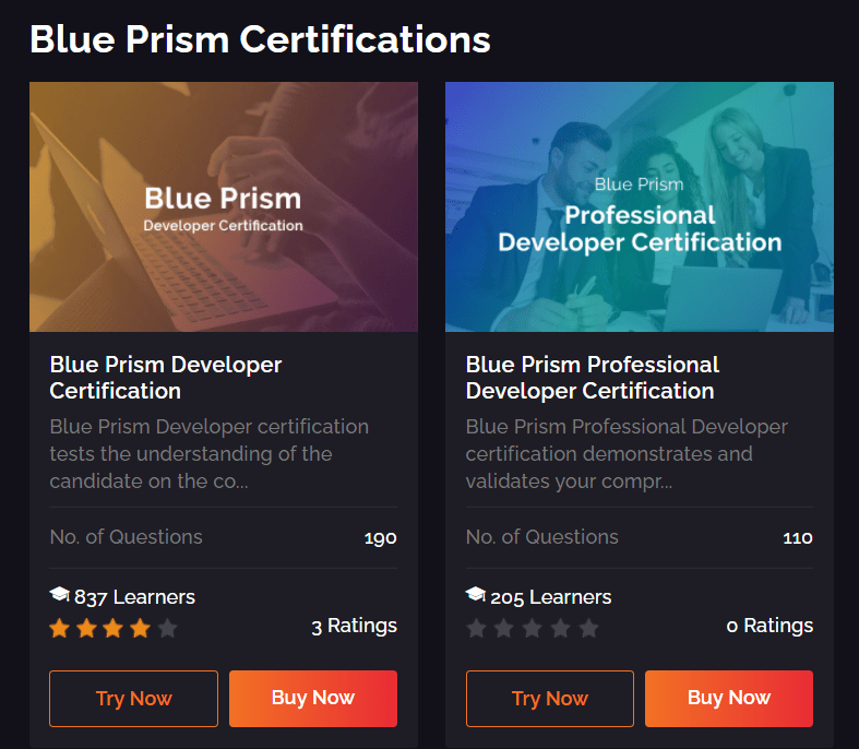 Whizlabs Review With Discount Coupon- Blue Prism Certifications