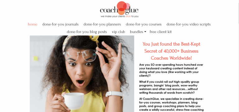 CoachGlue Review Homepage