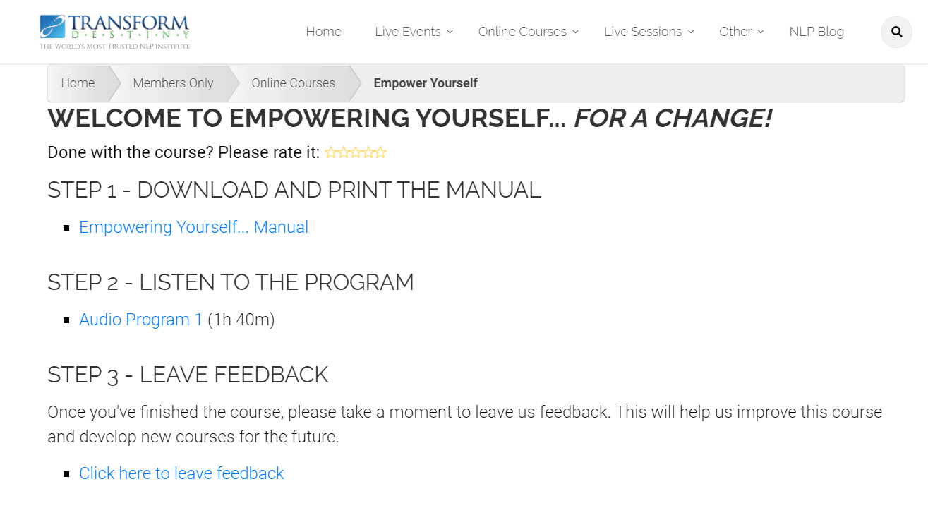 Empowering Yourself - Personal Growth Course