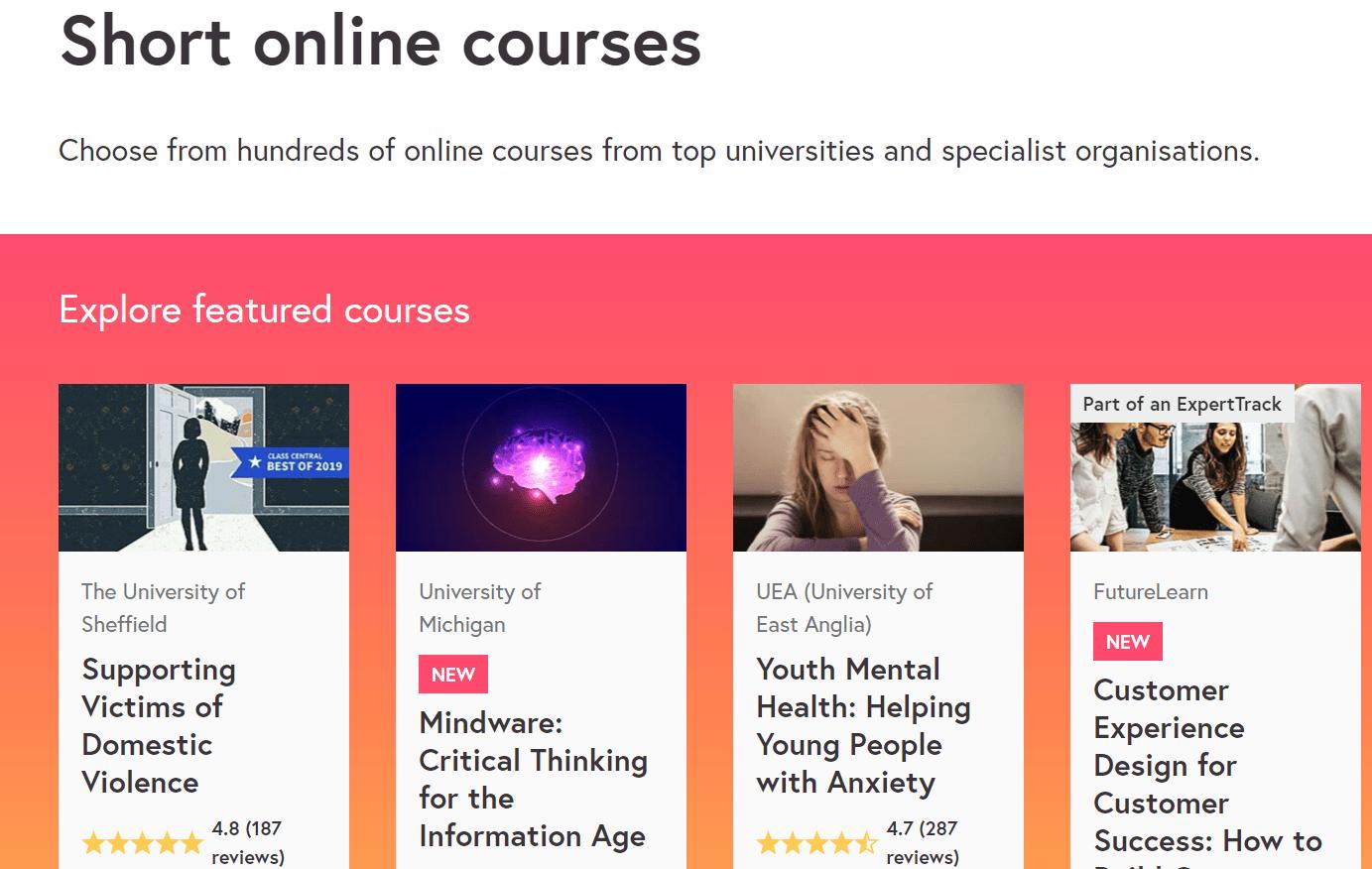 FutureLearn - Short online courses