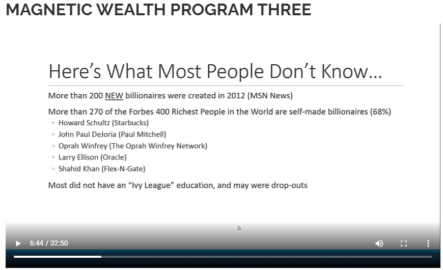 Magnetic Wealth Program Review
