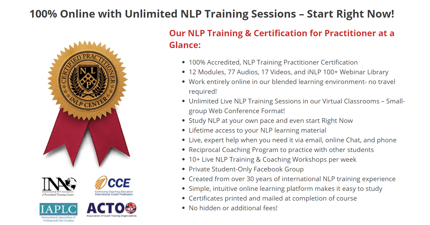NLP Training & Certification for Practitioner