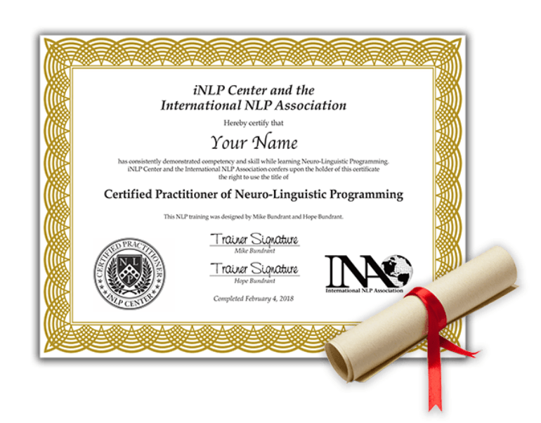 NLP Training & Certification for Practitioner- Certificate