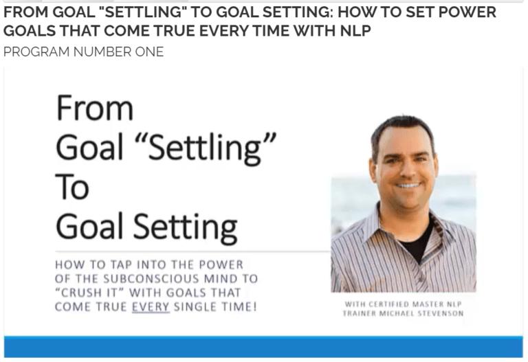 Setting Goal With Transform Destiny