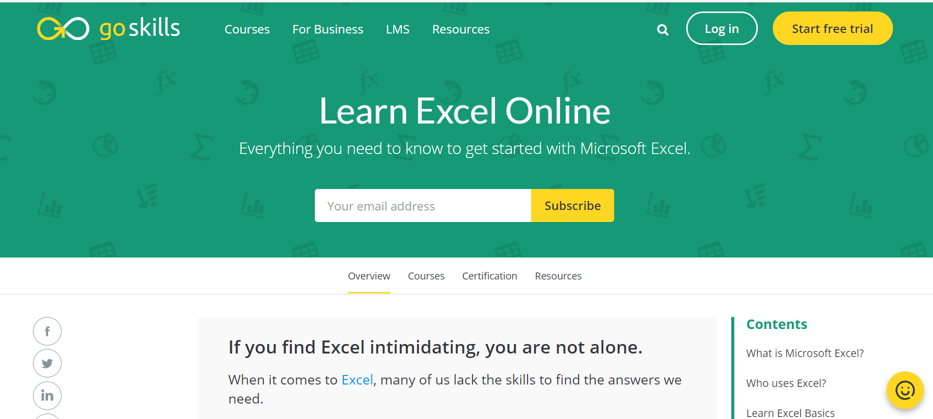 Goskills Review excel