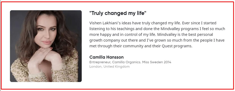Camilla Hansson Review