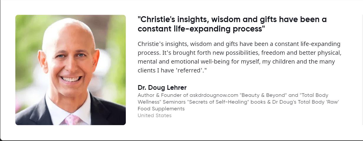 Dr. Doug Lehrer about Christie