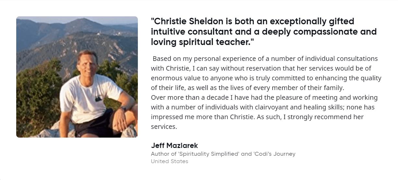 Jeff Maziarek About Christie Sheldon