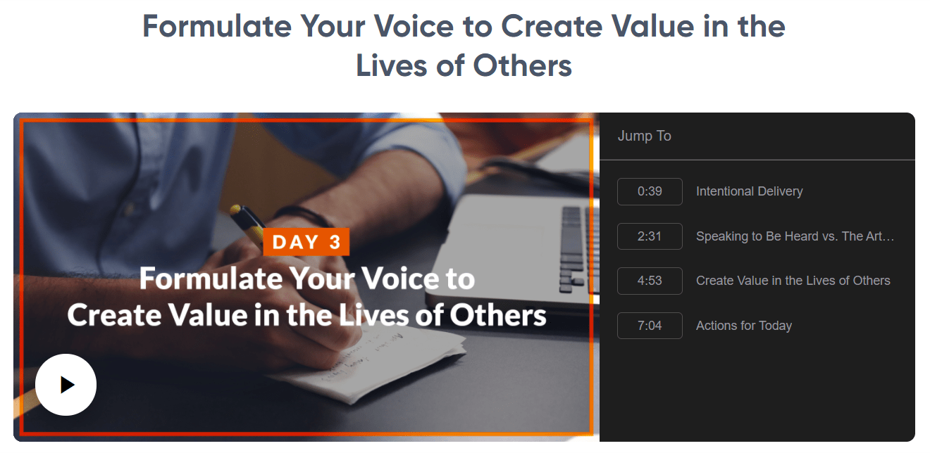 Speak and Inspire - Formulate Your Voice