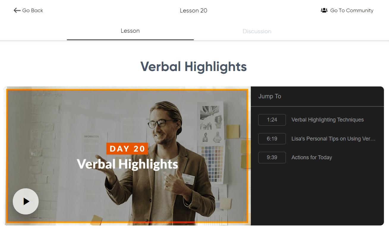 Speak and Inspire - Verbal Highlights