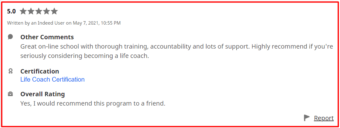 Coach Training Alliance Indeed Review 4